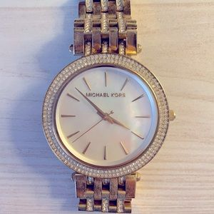 Michael Kors Darci Mother of Pearl Crystal Watch